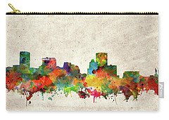 Carry-all Pouch featuring the painting Baltimore Skyline Watercolor 2 by Bekim Art