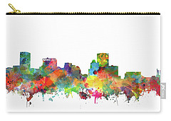 Carry-all Pouch featuring the painting Baltimore Skyline Watercolor 3 by Bekim Art
