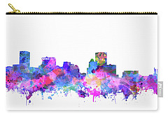 Carry-all Pouch featuring the painting Baltimore Skyline Watercolor 4 by Bekim Art