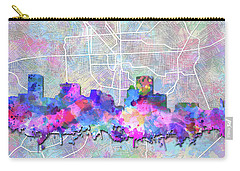 Carry-all Pouch featuring the painting Baltimore Skyline Watercolor 6 by Bekim Art