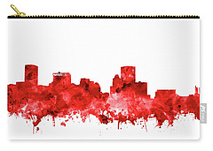 Carry-all Pouch featuring the painting Baltimore Skyline Watercolor 7 by Bekim Art