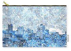 Carry-all Pouch featuring the painting Baltimore Skyline Watercolor 9 by Bekim Art