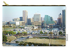 Carry-all Pouch featuring the photograph Baltimore's Inner Harbor by Brian Wallace