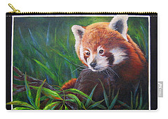 Bamboo Basking--red Panda Carry-all Pouch