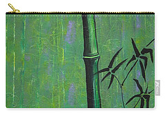 Carry-all Pouch featuring the painting Bamboo by Jacqueline Athmann