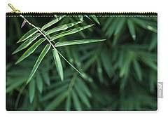 Bamboo Leaves Background Carry-all Pouch by Jingjits Photography