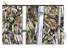Carry-all Pouch featuring the painting Bamboo Stalks by Lanjee Chee