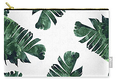 Banan Leaf Watercolor Carry-all Pouch by Uma Gokhale
