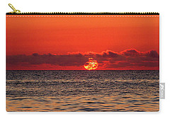 Band Of Clouds At Sunrise Carry-all Pouch by Allan Levin