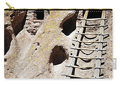 Carry-all Pouch featuring the photograph Bandelier Desert Ladder by Andrea Hazel Ihlefeld