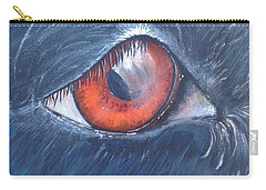 Eye Of The Bandit Carry-all Pouch by T Fry-Green