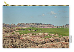 Badlands Panorama Carry-all Pouch by Nancy Landry