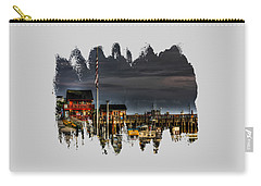 Carry-all Pouch featuring the photograph Bandon Boat Basin At Dawn by Thom Zehrfeld