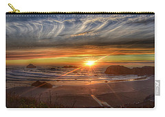 Carry-all Pouch featuring the photograph Bandon Sunset by Bonnie Bruno