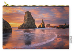 Carry-all Pouch featuring the photograph Bandon's New Years Eve Light Show by Darren White