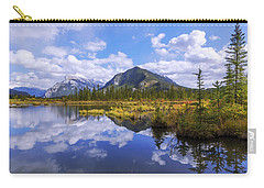 Carry-all Pouch featuring the photograph Banff Reflection by Chad Dutson