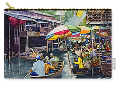 Bangkok's Floating Market Carry-all Pouch