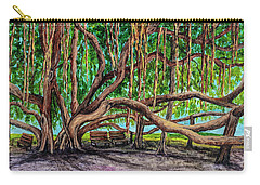 Carry-all Pouch featuring the painting Banyan Tree Park by Darice Machel McGuire