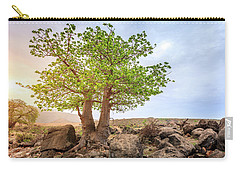 Carry-all Pouch featuring the photograph Baobab Tree by Alexey Stiop