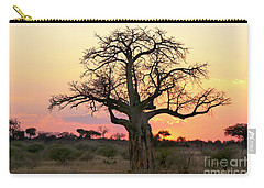 Baobab Tree At Sunset  Carry-all Pouch