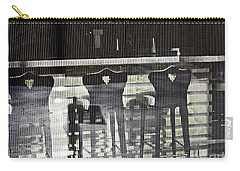 Carry-all Pouch featuring the photograph Bar And Stools by Sarah Loft