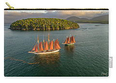 Carry-all Pouch featuring the photograph Sailing Thru Life The Downeast Way by Michael Hughes