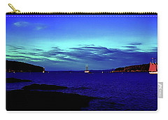 Carry-all Pouch featuring the photograph Bar Harbor, Maine Sunset Cruse  by Tom Jelen