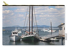 Bar Harbor Waterfront And Boats Carry-all Pouch by Living Color Photography Lorraine Lynch
