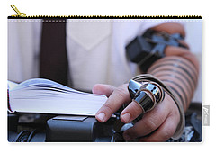 Carry-all Pouch featuring the photograph Bar Mitzvah Celebration With Tefillin  by Yoel Koskas