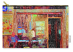 Bar Puccini Lucca Italy Carry-all Pouch by Wally Hampton