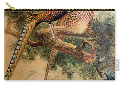 Bar-tailed Pheasant Carry-all Pouch by Joseph Wolf