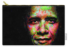 Barack Obama Carry-all Pouch by Svelby Art