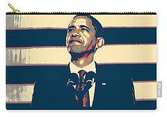 Barack Obama With American Flag 4 Carry-all Pouch