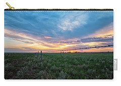 Carry-all Pouch featuring the photograph Barb Wire by Russell Pugh