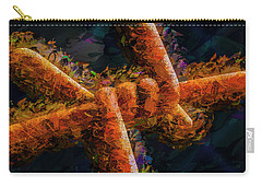 Carry-all Pouch featuring the photograph Barbed by Paul Wear