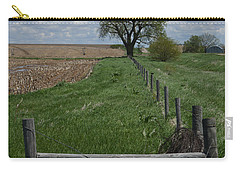 Barbed Wire Fence Line Carry-all Pouch by Renie Rutten