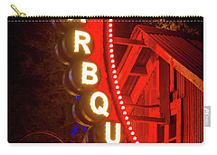 Carry-all Pouch featuring the photograph Barbeque Smokehouse by Mark Andrew Thomas