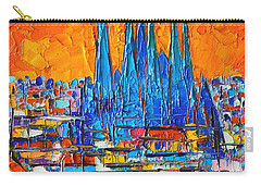 Barcelona Abstract Cityscape 7 - Sagrada Familia Carry-all Pouch