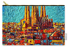 Barcelona Abstract Cityscape - Sagrada Familia Carry-all Pouch
