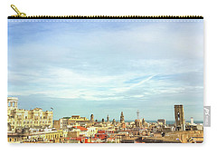 Carry-all Pouch featuring the photograph Barcelona Rooftops by Colleen Kammerer