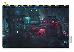 Barcelona Smoke And Neons Eixample Carry-all Pouch