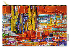 Barcelona View From Parc Guell - Abstract Miniature Carry-all Pouch