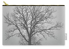 Bare Tree In Fog Carry-all Pouch by Nancy Landry