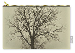 Bare Tree In Fog- Nik Filter Carry-all Pouch by Nancy Landry