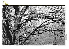 Bare Tree On Walking Path Bw Carry-all Pouch by Sandy Moulder