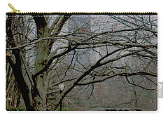 Bare Tree On Walking Path Carry-all Pouch