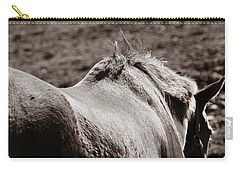 Carry-all Pouch featuring the photograph Bareback by Angela Rath