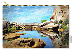 Barker Dam - Joshua Tree National Park Carry-all Pouch by Glenn McCarthy Art and Photography