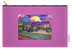 Barkhausen Filling Station. Carry-all Pouch by Jonathon Hansen