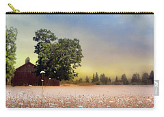 Carry-all Pouch featuring the photograph Barn And Lace by Rebecca Cozart